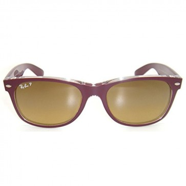 Ray-Ban RB2132 NEW WAYFARER Top Bordeaux On Transparent Gradient Brown Polarized Sunglasses
