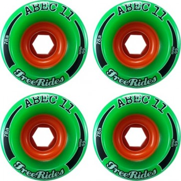 Abec 11 Classic Freerides 72mm Longboard Wheels - Durometer 78a