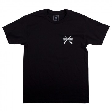 Welcome Broomstick Mens Black / White T-Shirt - Front