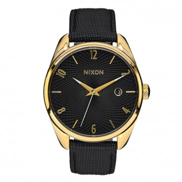 Nixon Bullet Leather Gold Black Watch