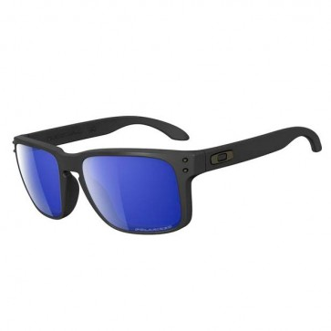 Oakley HOLBROOK Matte Black  Ice Iridium Polarized sunglasses- (LTD)OO9102-52