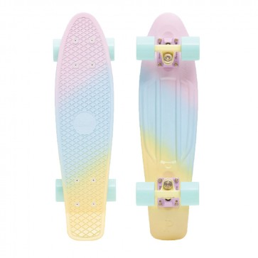"Penny Candy Fade 22"" Pink / Blue / Lemon Complete Skateboard"