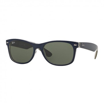 Ray-Ban RB2132 NEW WAYFARER BICOLOR 55mm Sunglasses in Blue w/ Green Classic G-15