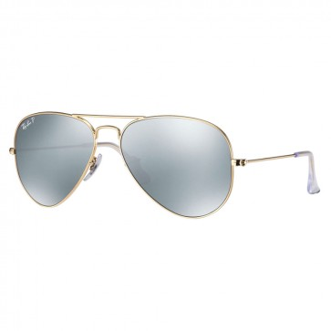 Ray-Ban RB3025 AVIATOR FLASH LENSES 58mm Gold Silver Flash Polarized Sunglasses