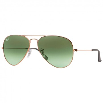 Ray-Ban RB3025 AVIATOR LARGE 58mm Bronze-Copper Green Gradient Sunglasses