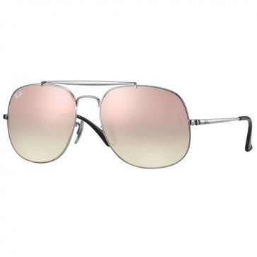 Ray-Ban RB3561 GENERAL 57mm Silver Copper Gradient Flash Sunglasses
