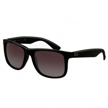 Ray-Ban RB4165 JUSTIN Black Grey Gradient Sunglasses