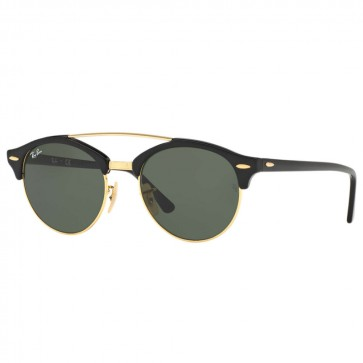 Ray-Ban RB4346 CLUBROUND 51mm Sunglasses - Black Green Classic G-15