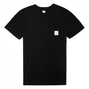 HUF BOX LOGO Pocket Tee - Black
