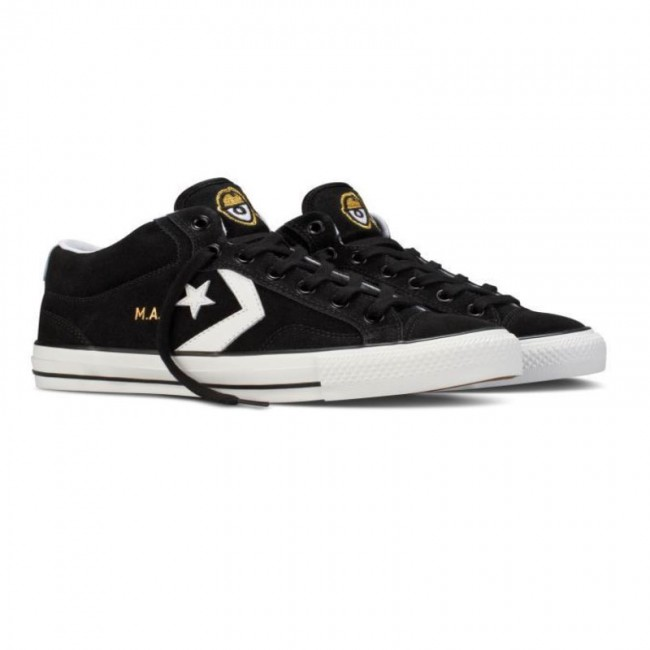 converse x krooked star player pro mid skate shoes