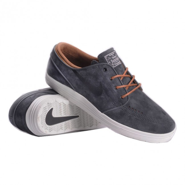 outlet store 5529b 29cc7 Nike SB Lunar Stefan Janoski Anthracite, Ale Brown, Summit White and Black  Skate Shoes