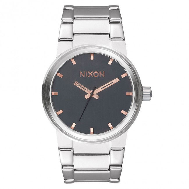 Nixon Cannon Gold: Nixon CANNON Watch In Grey With Rose Gold