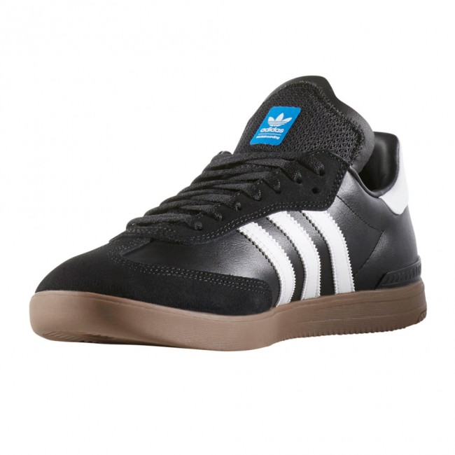 adidas samba adv skate shoes black white gum. Black Bedroom Furniture Sets. Home Design Ideas