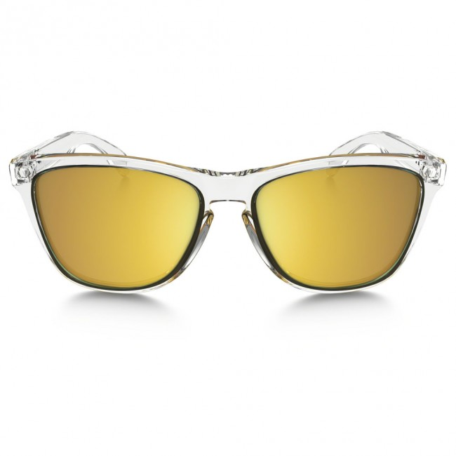 cb78012b3d Oakley FROGSKINS CRYSTAL COLLECTION Polished Clear 24K Iridium Sunglasses