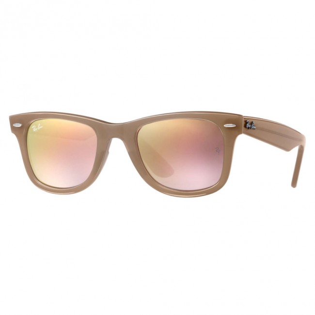 4be28f0053 Ray-Ban RB4340 WAYFARER EASE Sunglasses 50mm Beige Copper Gradient Flash