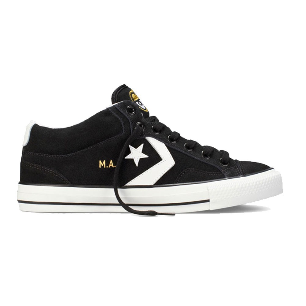 Converse X Krooked Mike Anderson Star Player Pro Mid - Black and White Skate Shoes