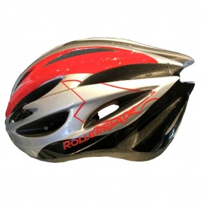 Rollerblade Performance Helmet in Silver and Red