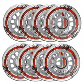 Rollerblade Micro 72mm / 80A RB Inline Wheels - 8 Pack