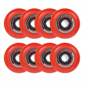 Rollerblade 80mm / 85A Hydrogen Urban Red Wheels 8 Pack