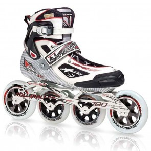 Rollerblade Tempest 100 Inline Skates Black / White with Red