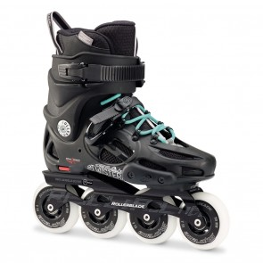 Rollerblade Twister 80 W Black and Light Blue Womens Inline Skates