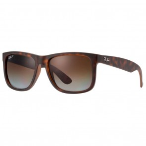 Ray-Ban RB4165 JUSTIN Sunglasses - Tortoise Brown Gradient Polarized