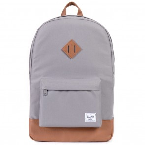 Herschel Heritage Grey / Tan Synthetic Leather Skate Backpack