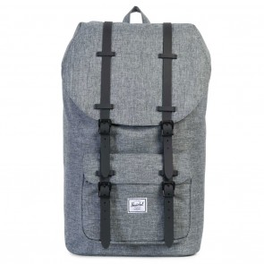 Herschel Little America Backpack Raven Crosshatch / Black Rubber