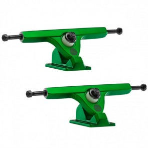Caliber II 184mm 10in 44 Degree Satin Green Longboard Trucks Main