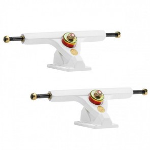 Caliber II 184mm 10in 44 Degree White Gold Longboard Trucks Main