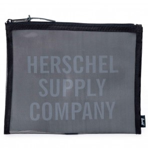 Herschel Network Large Pouch Black / White Screen Print
