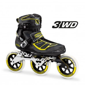 Rollerblade Tempest 125 3WD Marathon Black and Yellow Inline Skates