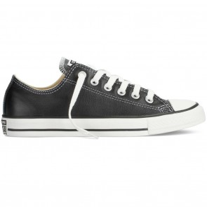 Converse Chuck Taylor All Star Ox Leather Low Skate Shoes - Black
