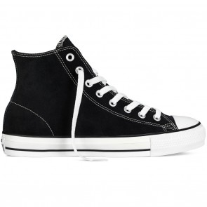 Converse CTAS Pro Hi Suede Skate Shoes - Black / White