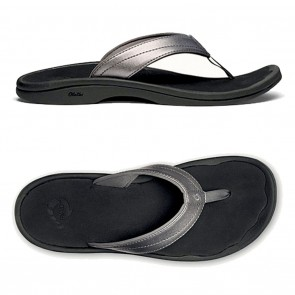 OluKai Ohana Womens Sandals Pewter / Black