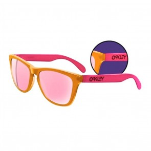 Oakley Frogskins Blacklight Orange Pink / Pink Iridium Sunglasses (LTD)