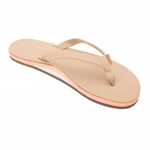 Rainbow Ladies Sandals The Tropics Single Layer Premier Leather Sierra Melon