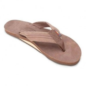 Rainbow Premier Leather 301 Wide Strap Expresso Ladies Sandals