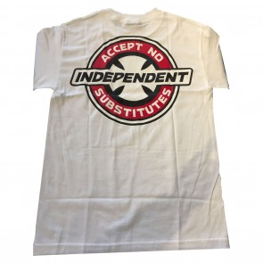 BDS X INDY - Accept No Substitutes S/S T-Shirt White Back
