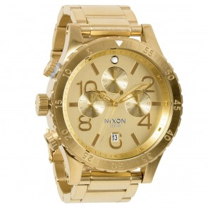 Nixon 48-20 Chrono All Gold Watch-A486-502