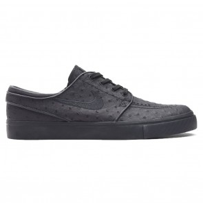 Nike SB Zoom Stefan Janoski Leather Black / Black / Anthracite Skate Shoes