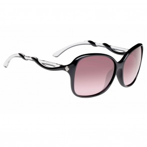 Spy FIONA Black with Clear / Happy Merlot Fade Sunglasses