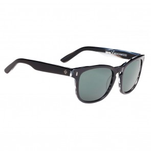 Spy BEACHWOOD Black / Horn with Happy Grey Green Sunglasses