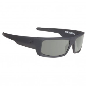 Spy GENERAL Sunglasses - Soft Matte Black with Happy Grey Green