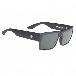 Spy Cyrus Soft Matte Black / Happy Grey Green Polarized Sunglasses