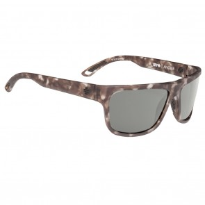Spy ANGLER Sunglasses - Soft Matte Smoke Tortoise with Happy Grey Green Polarized