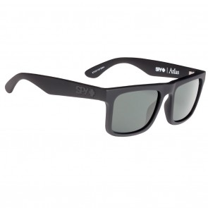 Spy ATLAS Sunglasses - Soft Matte Black with Happy Grey Green