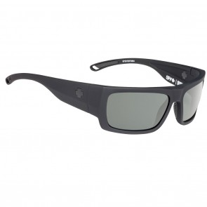 Spy ROVER Sunglasses - Soft Matte Black with Happy Grey Green Polarized