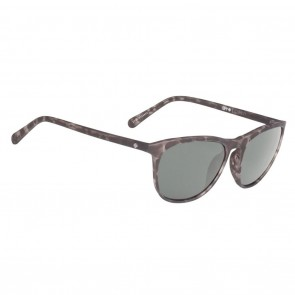 Spy CAMEO Sunglasses - Soft Matte Black with Happy Grey Green
