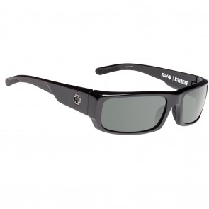Spy CALIBER Sunglasses - Black with Happy Grey Green